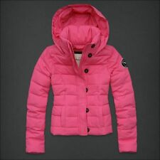 NEW Youth Girls M ABERCROMBIE KIDS Natalie Pink Puffer Hooded Coat Jacket