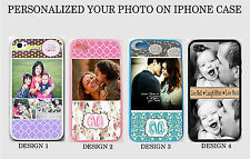 NEW PERSONALIZED CUSTOM PHOTO IMAGE MONOGRAM Rubber Case For iPhone 6 4S 5 5S 5C