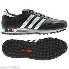 Adidas originals LA trainer shoe leather new mens