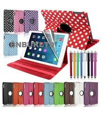 2013 Leather 360 ° Degree Rotating Case cover For new apple ipad 5 air
