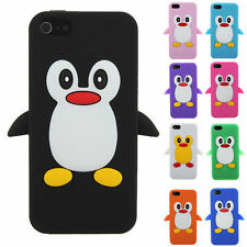 Penguin Soft Rubber Silicon Mobile Case Cover iPhone 5S 5G 5C 4G iPod Touch 4