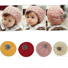 Fashion New Baby Kids Girls Warm Winter Knit Crochet Beanie Hat Cap