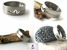 Mens Ladies Ring Steel Band Gothic Tribal Cool Designs Boy Girl Size 17mm-22mm