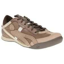 New Mens Cushe Brown Vinyl 45 Leather Trainers Lace Up