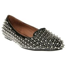New Womens Jeffrey Campbell Black Martini Leather Shoes Flats Slip On
