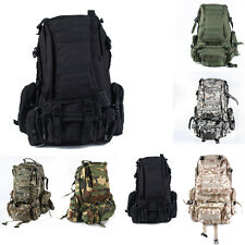 Large Camping Bag Outdoor Molle Assault Tactical Backpack Military Rucksack Bag