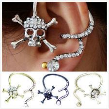 3D Flying FLOWER CAVALLO ALA PEGASUS Unicorno STAR Ear Cuff Clip Stud Wrap Orecchino
