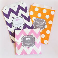 60 Babies Are Sweet Personalized Chevron Dots Wedding Party Favor Goodie Bags