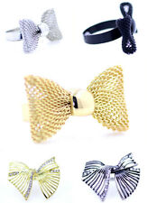 Lovely adjustable mesh bow ring multiple choices