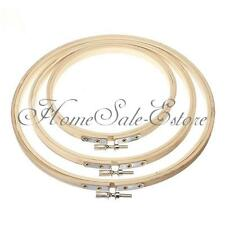 """Wooden Cross Stitch Machine Embroidery Hoop Ring Round Loop Sewing 5"""" to 10"""" UK"""