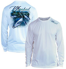 Microfiber Long Sleeve Fishing Shirt UPF 50 Bluefin Tuna Tuna Fishing WRECKED