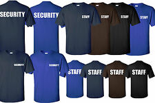 Security tees & Staff tees Event BouncerCotton t shirts all sizes