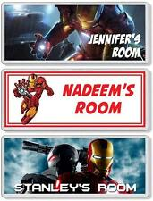 Iron Man Personalised Bedroom Door Plaque / Sign *ANY NAME / MESSAGE*