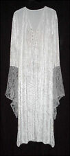 Sexy White Velvet Lace-up Dress Angel Fairy Like Costume PLUS SIZE SML to 9x
