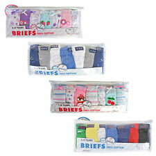 New Boys & Girls 7 Pair Packs Briefs Underpants Knickers Age 2 3 4 5 6 7 8 Years