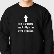 What The Best Daddy In The World Looks Like Fathers Dad Crew Neck Sweatshirt