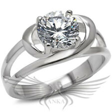 1.75ct Round Solitaire Russian Lab Created Simulated Diamond Ring TK066