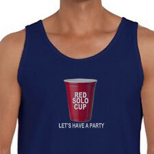 RED SOLO CUP Lets Have a Party T-shirt funny Drinking College Men's Tank Top