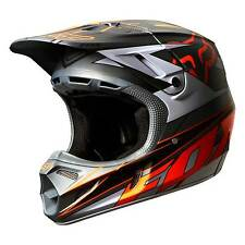 Fox 2014 V4 Race casque / couvercle en gris / orange Motocross / mx / moto x / off road / enduro