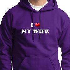 I LOVE MY WIFE heart Gift T-shirt Anniversary Hoodie Sweatshirt