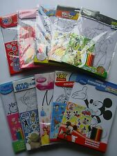 CHARACTER/THEMED A4 COLOURING SETS (+Stickers/Pencils) Large Range Available