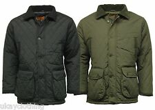 Mens Countryman diamond quilted padded jacket coat