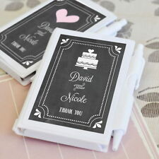 24 Personalized Custom Chalkboard Wedding Notebook Book Pad Bridal Party Favors