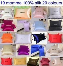 1 Pc 19mm 100% Pure Silk Pillow Cases Covers Back envelope Open Style All Size