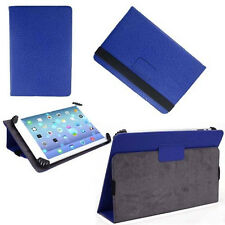 "Dark Blue Flip Leather Wallet Folio Smart Case Stand Cover for 9""-10.1"" Tablets"