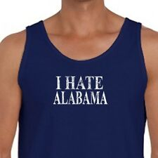 I Hate Alabama jersey T-shirt football Funny Tigers Men's American Apparel Tank