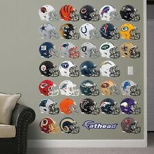 "ASSORTED NFL TEAM HELMET FATHEAD SIZE 12""WX10""T CHOOSE YOUR TEAM"