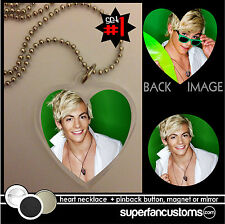 Ross Lynch NECKLACE + BUTTON or MAGNET or MIRROR austin and & ally badge #1391