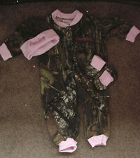 Personalized Girls Camo Camouflage 3PC Baby Infant Newborn Set Girl Pink trim