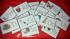 LETTERS - ALPHABET FLASH CARDS - LEARN TO WRITE - EYFS - TEACHING RESOURCE