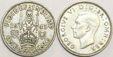 1937 to 1946 George VI Silver Scottish Shilling Your Choice of Date