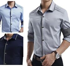 UC6186 New Top fashion Mens Luxury Casual Slim Fit Stylish Dress Shirts 6 COLOR