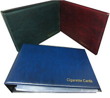GLEN CIGARETTE CARD ALBUM & SLEEVES - CHOOSE RED GREEN BLUE - OPTIONAL SLIPCASE