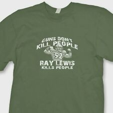 Guns Don't Kill People Ray Lewis Kills People T-shirt Ravens jersey Tee Shirt