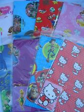 CHARACTER GIFT WRAP & TAGS (2 Sheets & 2 Tags/Pack) {fixed £1 p&p}