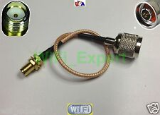 "RG316 LOW LOSS COAX RF CABLE SMA FEMALE TO N TYPE MALE/FEMALE STRAIGHT 4-20"" USA"