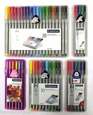 STAEDTLER TRIPLUS FINELINER PENS - Boxes of 4, 6, 10 or 20 assorted colour pens!