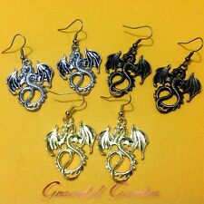 ER2533 Vintage Chinese Style Flying Dragon Dangle Hook Earrings