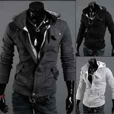 Hot ! NEW Mens Slim Fit Sexy Top Designed Hoodies Jackets Coats 3 colors 4 sizes