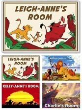 The Lion King XL Personalised Kids' Bedroom Door Plaque / Magnet *ANY MESSAGE*