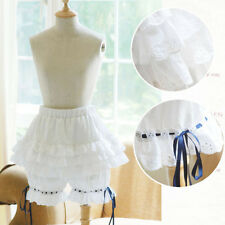 Women Ruffled bloomers cosplay maid Lolita pantaloons can can goth sissy pantie