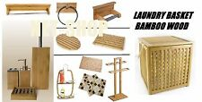 BAMBOO WOODEN TOILET ROLL BRUSH HOLDER TOWEL RAIL RING STAND MAT DUCK BOARD SET