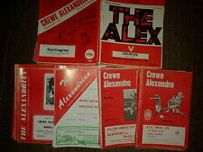 Crewe Alexandra 1973/74 HOME programmes choose from list FREE UK P&P
