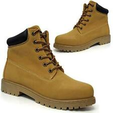 LADIES BIKER BOOTS WOMENS GIRLS ANKLE HIKING DESERT RIDING LACE UP SHOES SIZE