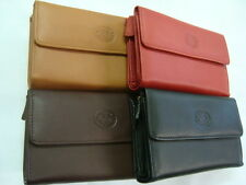Ladies Soft Leather Purse Wallet with front Flap Top Brand London Leather Goods