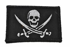 "Pirate Jolly Roger - 2""x3"" Hat Patch Police Military Morale Funny Velcro"